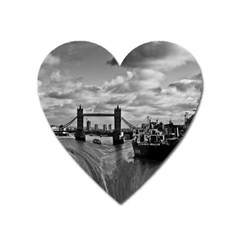 River Thames Waterfall Large Sticker Magnet (heart) by Londonimages