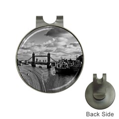 River Thames Waterfall Hat Clip With Golf Ball Marker by Londonimages