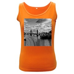 River Thames Waterfall Dark Colored Womens'' Tank Top