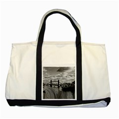 River Thames Waterfall Two Toned Tote Bag by Londonimages