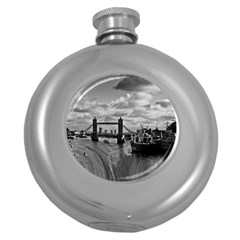 River Thames Waterfall Hip Flask (round) by Londonimages