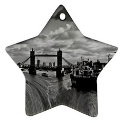 River Thames Waterfall Twin Sided Ceramic Ornament (star) by Londonimages