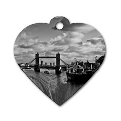 River Thames Waterfall Single Sided Dog Tag (heart) by Londonimages