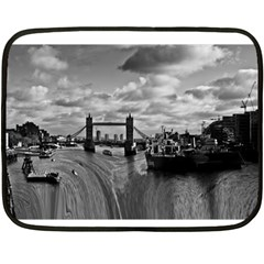 River Thames Waterfall Twin Sided Mini Fleece Blanket by Londonimages