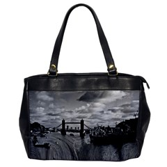 River Thames Waterfall Single Sided Oversized Handbag by Londonimages