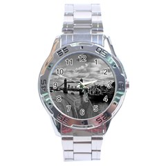 River Thames Waterfall Stainless Steel Analogue Watch (round) by Londonimages