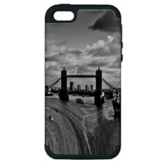 River Thames Waterfall Apple Iphone 5 Hardshell Case (pc+silicone) by Londonimages