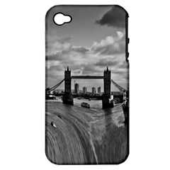River Thames Waterfall Apple Iphone 4/4s Hardshell Case (pc+silicone) by Londonimages