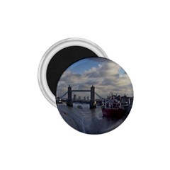 Thames Waterfall Color Small Magnet (round) by Londonimages