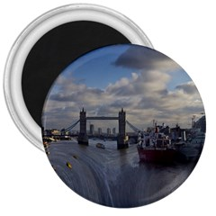 Thames Waterfall Color Large Magnet (round) by Londonimages