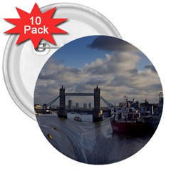 Thames Waterfall Color 10 Pack Large Button (round) by Londonimages