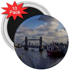 Thames Waterfall Color 10 Pack Large Magnet (round) by Londonimages