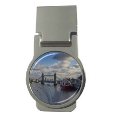 Thames Waterfall Color Money Clip (round) by Londonimages