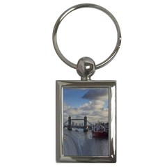 Thames Waterfall Color Key Chain (rectangle) by Londonimages
