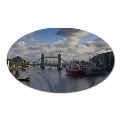 Thames Waterfall Color Large Sticker Magnet (oval) by Londonimages