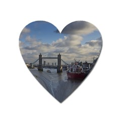 Thames Waterfall Color Large Sticker Magnet (heart) by Londonimages