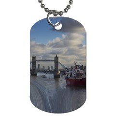 Thames Waterfall Color Single Sided Dog Tag by Londonimages