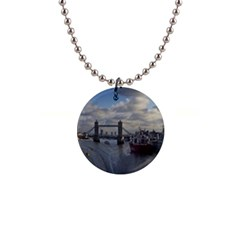 Thames Waterfall Color Mini Button Necklace by Londonimages