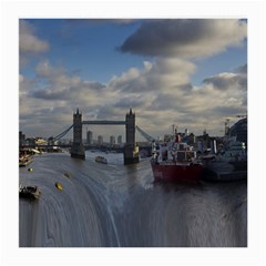 Thames Waterfall Color Single Sided Large Glasses Cleaning Cloth by Londonimages