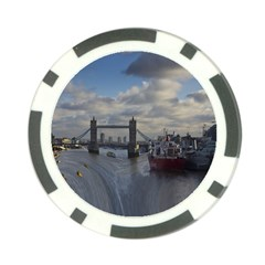 Thames Waterfall Color Poker Chip by Londonimages