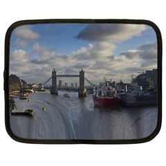 Thames Waterfall Color 12  Netbook Case by Londonimages