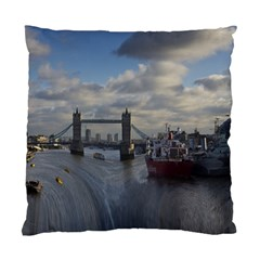 Thames Waterfall Color Twin Sided Cushion Case by Londonimages
