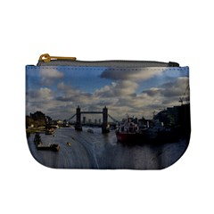 Thames Waterfall Color Coin Change Purse by Londonimages