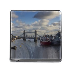 Thames Waterfall Color Card Reader With Storage (square) by Londonimages