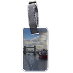Thames Waterfall Color Twin Sided Luggage Tag by Londonimages