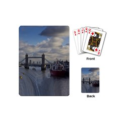 Thames Waterfall Color Playing Cards (mini) by Londonimages