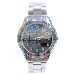 Thames Waterfall Color Stainless Steel Analogue Watch (round) by Londonimages