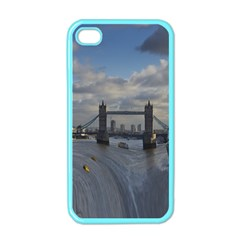 Thames Waterfall Color Apple Iphone 4 Case (color) by Londonimages