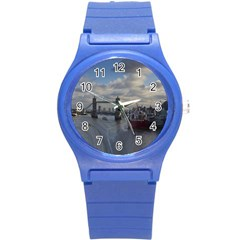 Thames Waterfall Color Round Plastic Sport Watch Small by Londonimages