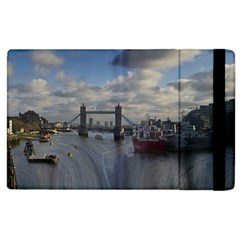 Thames Waterfall Color Apple Ipad 3/4 Flip Case by Londonimages
