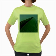 The Shard London Green Womens  T Shirt by Londonimages