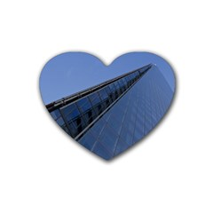 The Shard London 4 Pack Rubber Drinks Coaster (heart) by Londonimages