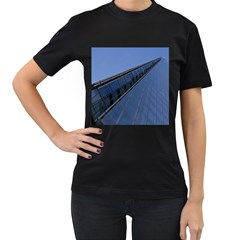 The Shard London Black Womens'' T Shirt by Londonimages