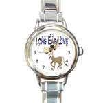 Longear love Round Italian Charm Watch