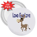 Longear love 3  Button (100 pack)