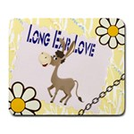 Longear love Large Mousepad