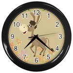 Longear love Wall Clock (Black)