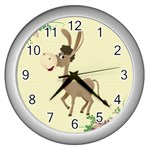 Longear love Wall Clock (Silver)