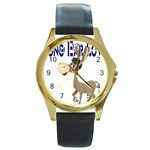 Longear love Round Gold Metal Watch