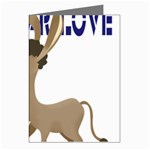 Longear love Greeting Cards (Pkg of 8)