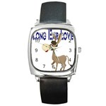 Longear love Square Metal Watch