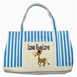 Longear love Striped Blue Tote Bag