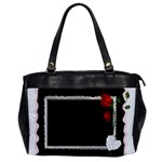 Black, Red and White Oversize office handbag