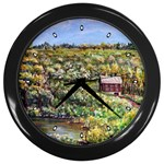 Tenant House in August by Ave Hurley AH-001 ARTRAVE.COM Wall Clock (Black)