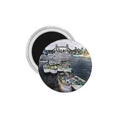 River Thames Art Small Magnet (round) by Londonimages