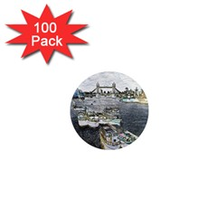 River Thames Art 100 Pack Mini Magnet (round) by Londonimages